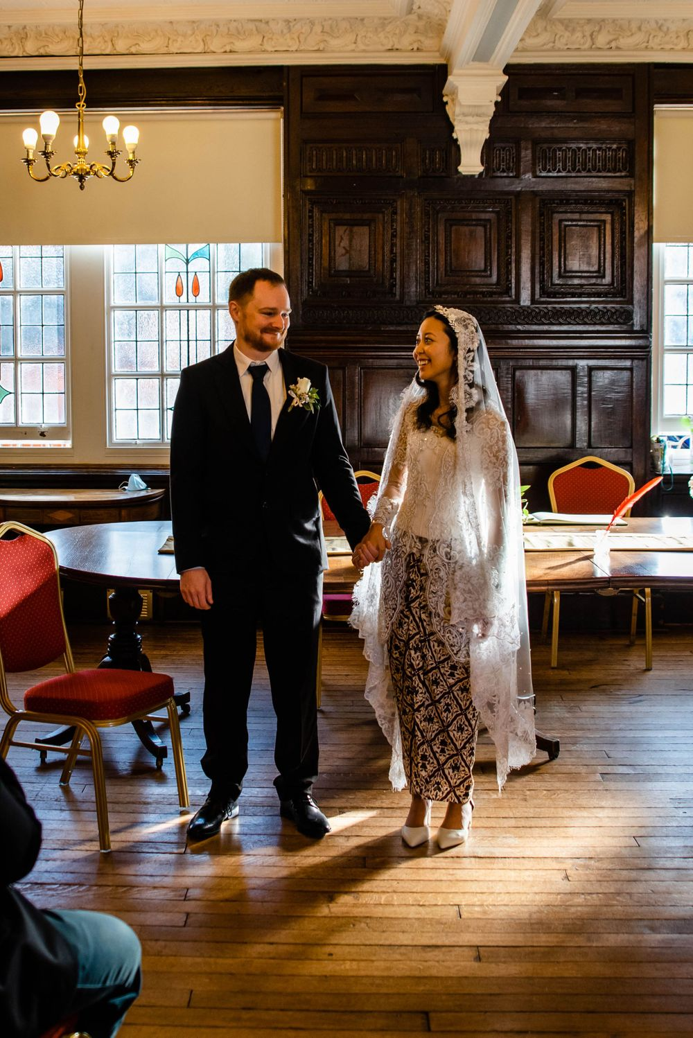 Cotswolds based Zara Davis Wedding Photography at Hereford Town Hall Herefordshire happy faces
