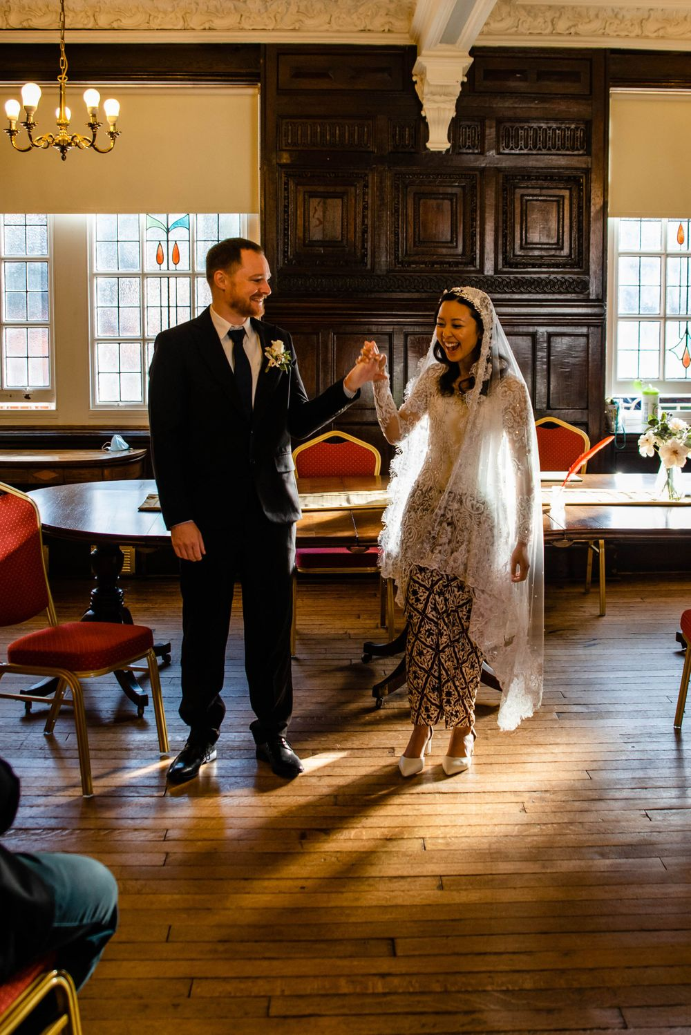 Cotswolds based Zara Davis Wedding Photography at Hereford Town Hall Herefordshire we did it pose