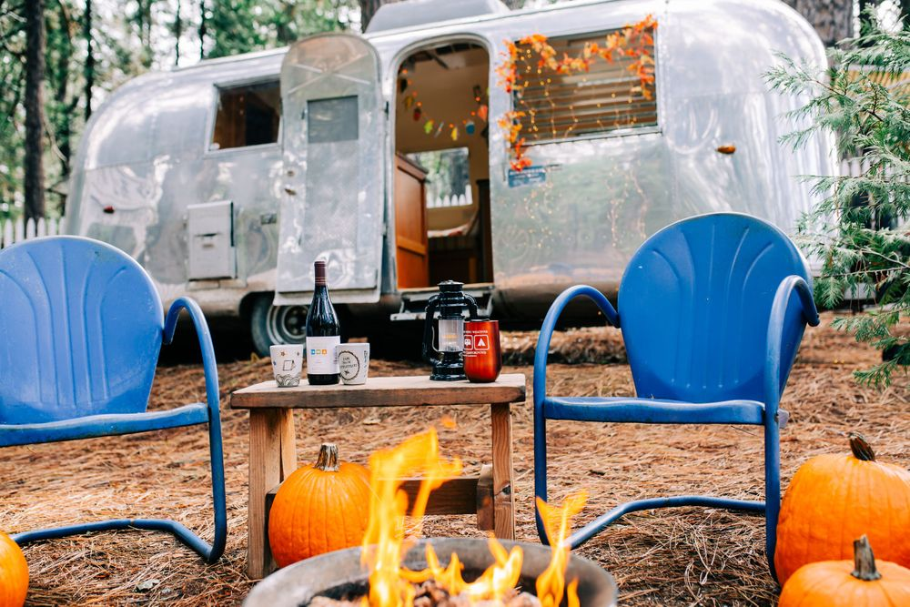 airstream camper at the Inn Town Campground