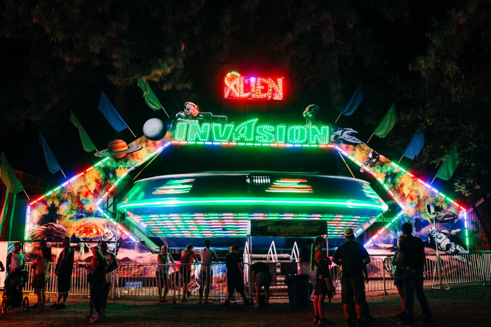 midway ride at the nevada county fair