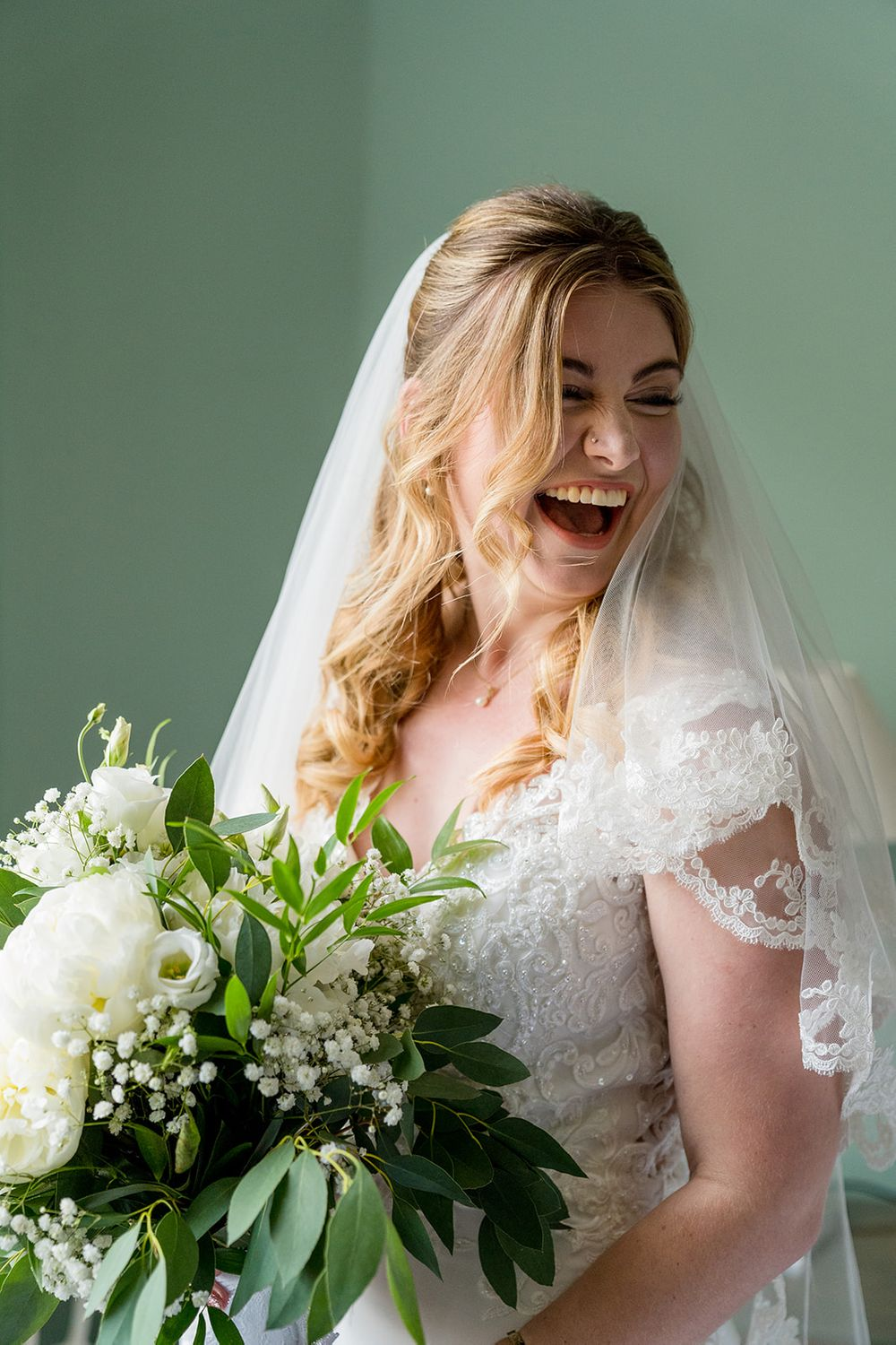 laughing bride photograph