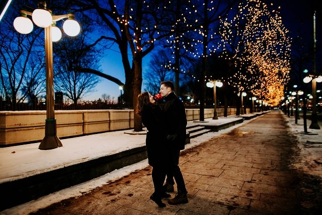 Wintery Downtown Ottawa Engagement Session