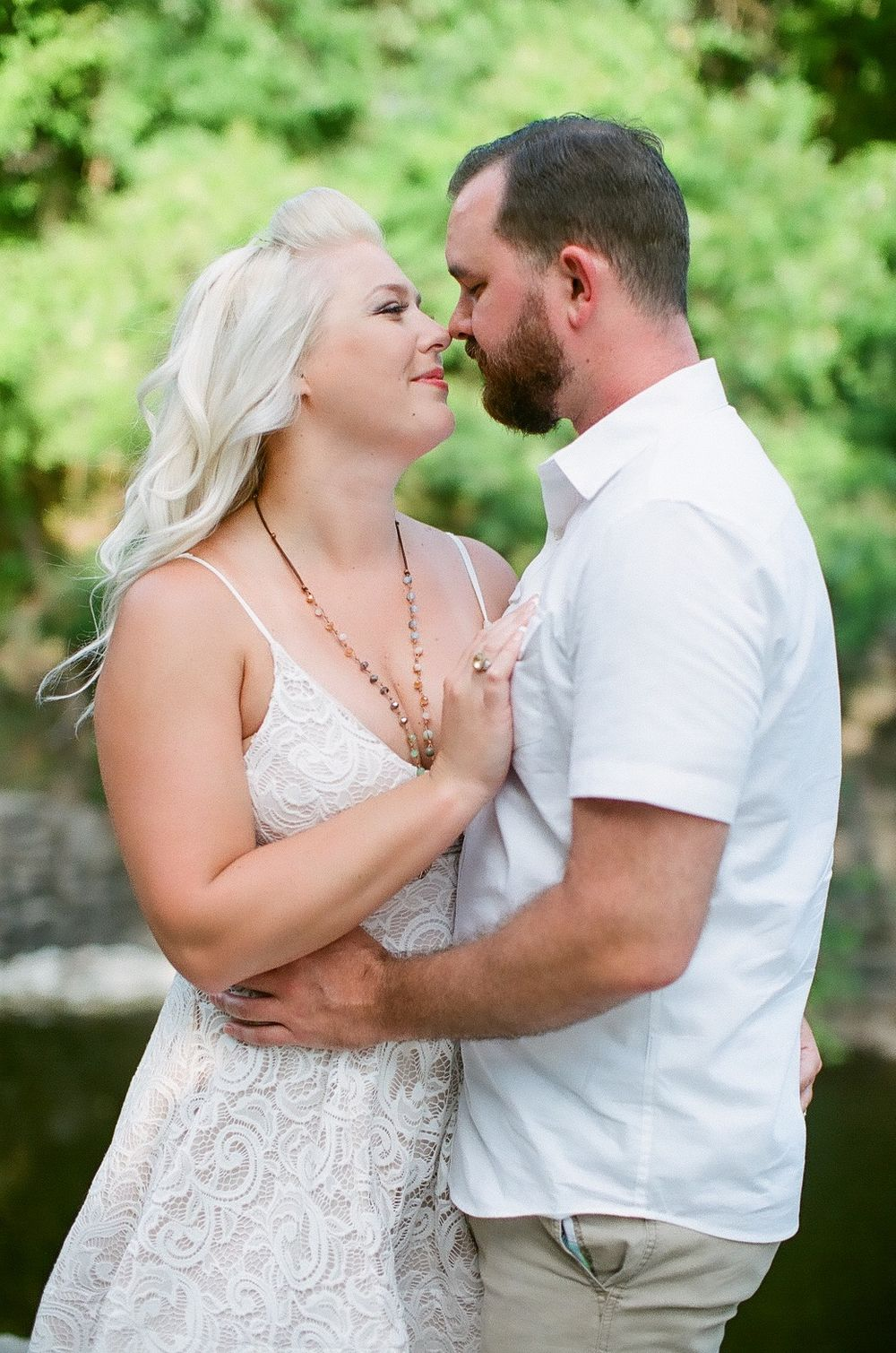 Elizabeth Couch Photography Prairie creek engagement photos waterfall ft. photographer
