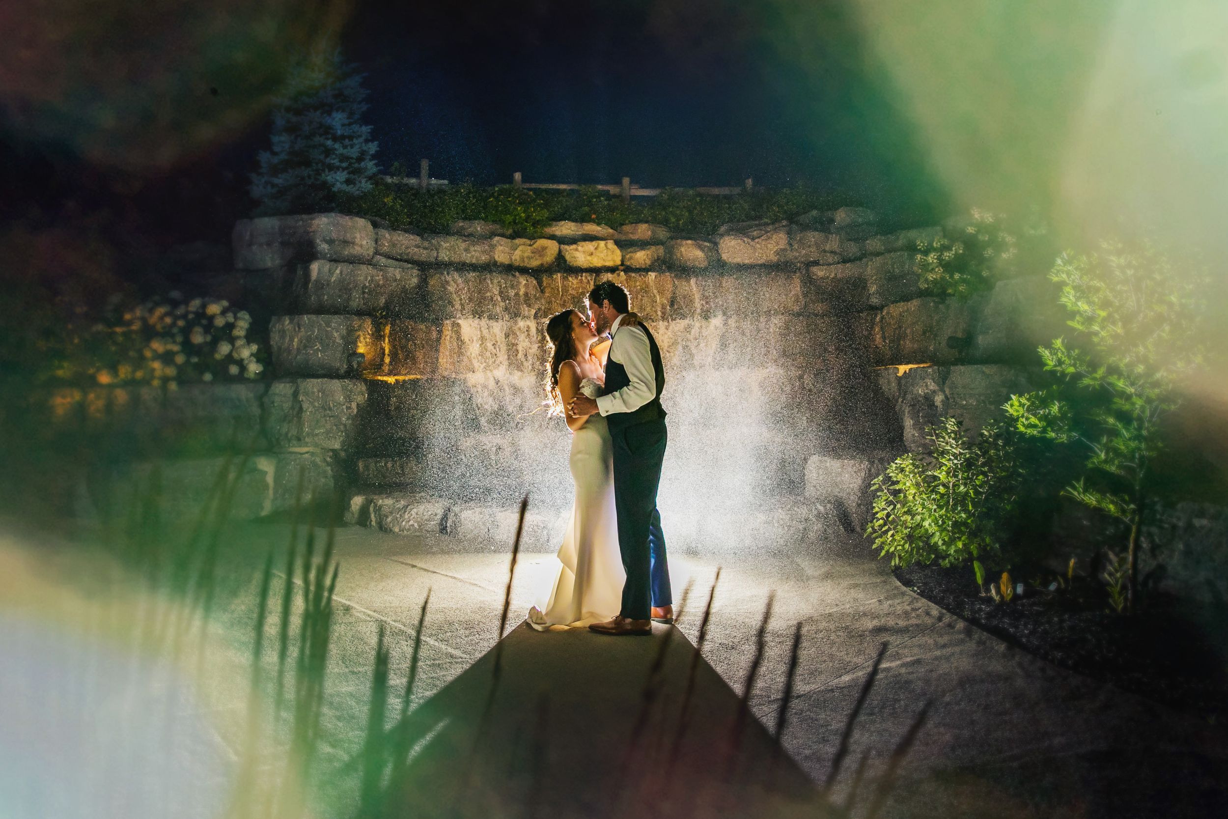 Whistle Bear Golf Club Nighttime Bride Groom Wedding Photos