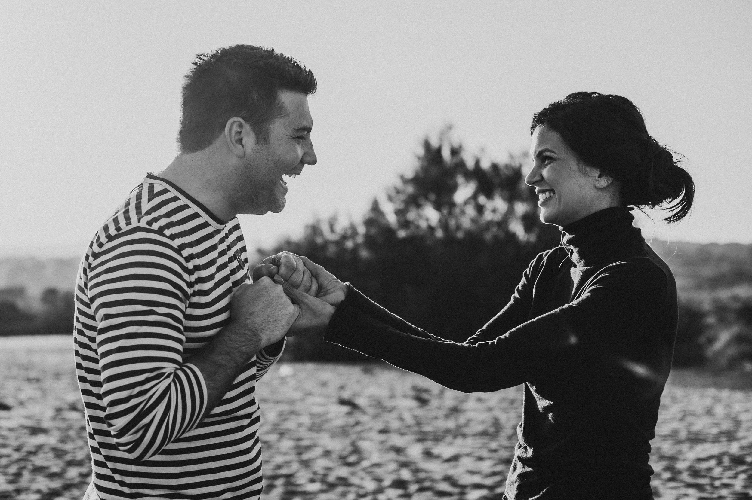 Engagement portrait beach