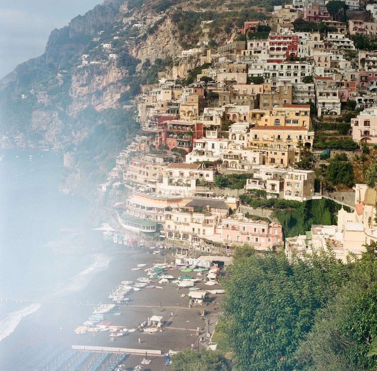 Aaron Snow Photography Italy Wedding Photographer Positano Beach Cliffs Hasselblad Camera