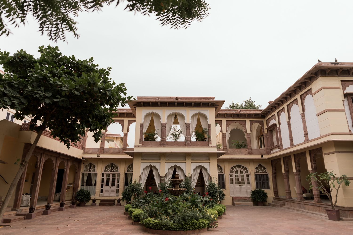 A photograph of the foyer at the House of Rohet Jodhpur