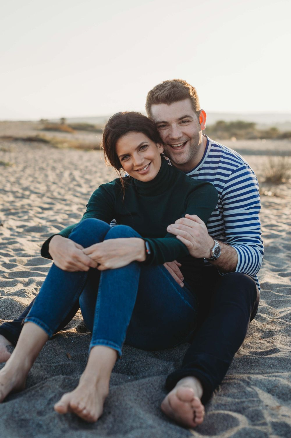 Portrait of a couple on a beach