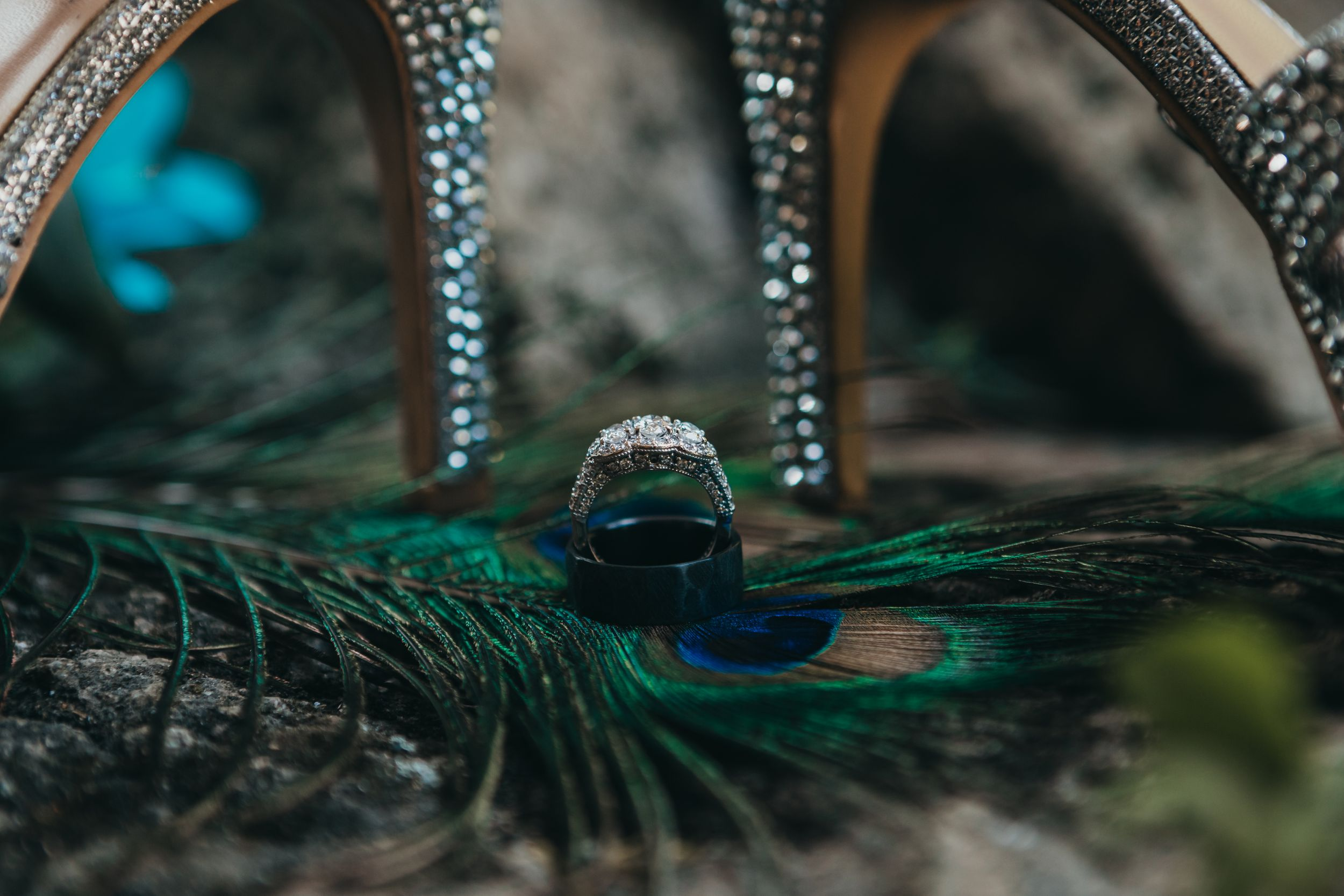 Details ring photo peacock theme wedding Soulful hues photography