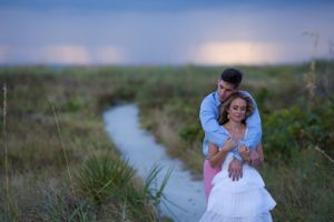 Engagement photo of couple in Anna Maria Island Florida