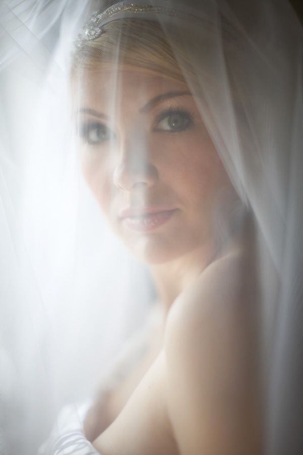 Gorgeous bright bridal portrait in Providence Rhode Island at the Biltmore Hotel