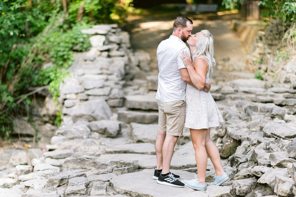 Elizabeth Couch Photography Prairie creek engagement photos waterfall ft. worth wedding