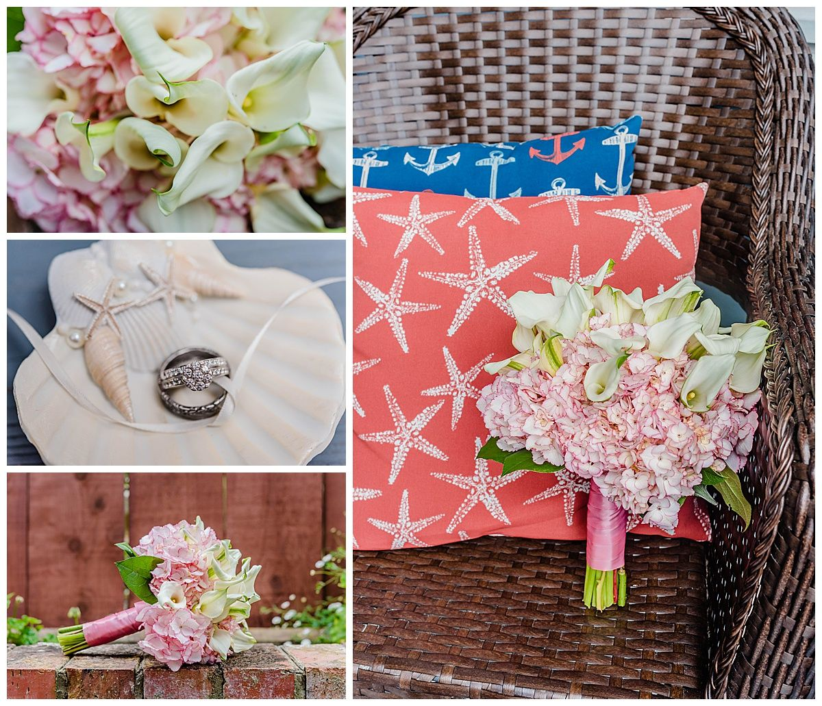monterey california beach house destination wedding rings bouquet