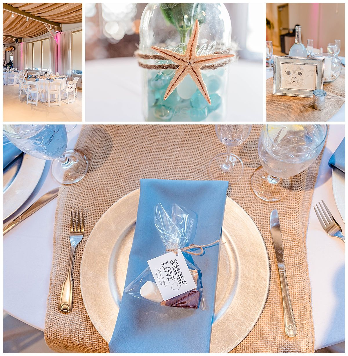 monterey california beach house destination wedding reception decor