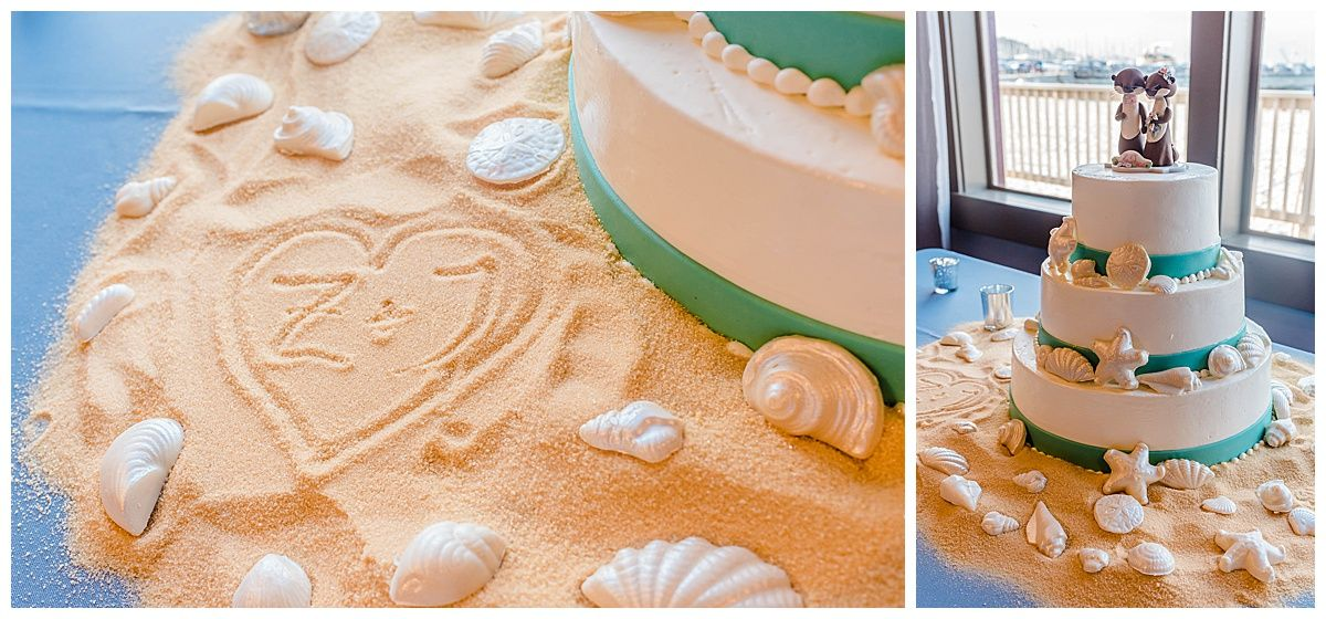 monterey california beach house destination wedding cake