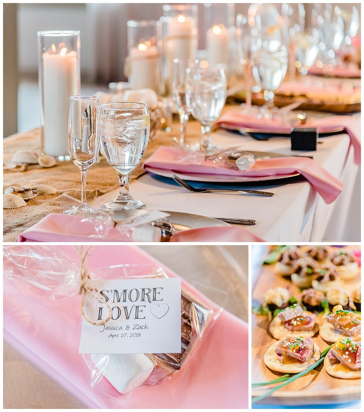monterey california beach house destination wedding reception favors