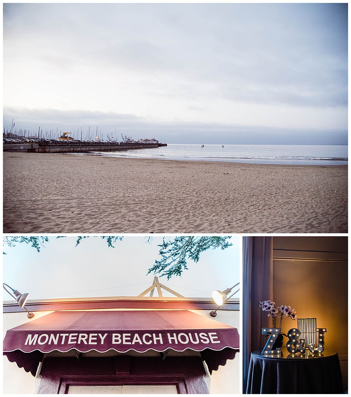 monterey california beach house destination wedding