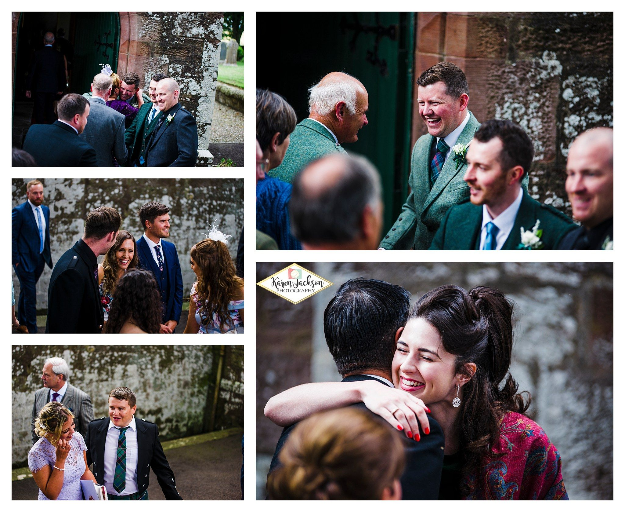 Carmyllie Parish Church wedding Angus