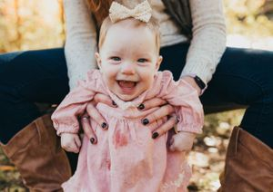 smiling baby by worcester ma family photographer