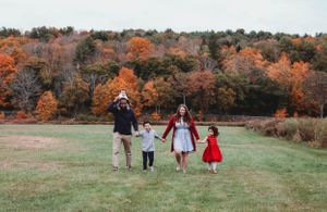 family walking together in western ma by worcester ma family photographer