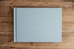 Hand Made Wedding Photography Albums Oxford Oxfordshire Squib Blue Leather