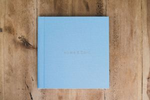 Hand Made Wedding Photography Albums Oxford Oxfordshire Squib Blue