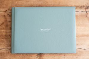 Hand Made Wedding Photography Albums Oxford Oxfordshire Squib Green Olive Cover