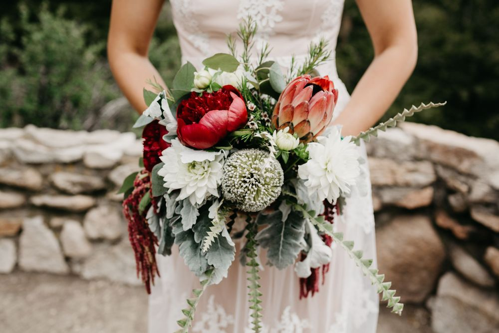 Gorgeous wedding bouquet Breckenridge Colorado Wedding