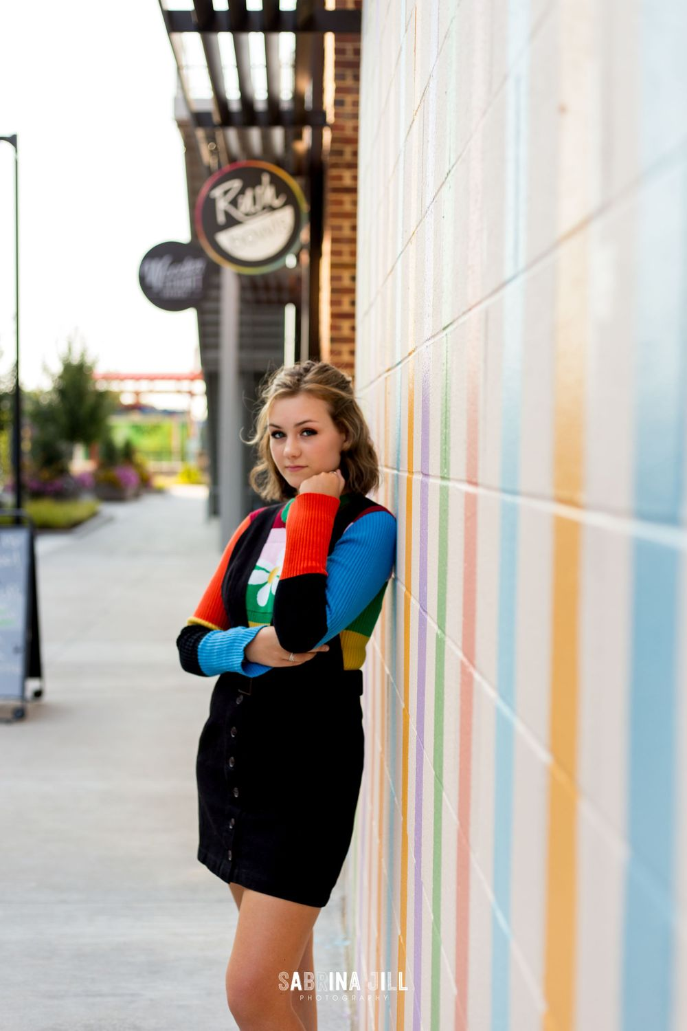 Young woman during senior portraits in NODA Charlotte