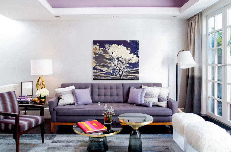 Regal Tree by Lisa Drew photo artist represented on wall in living room