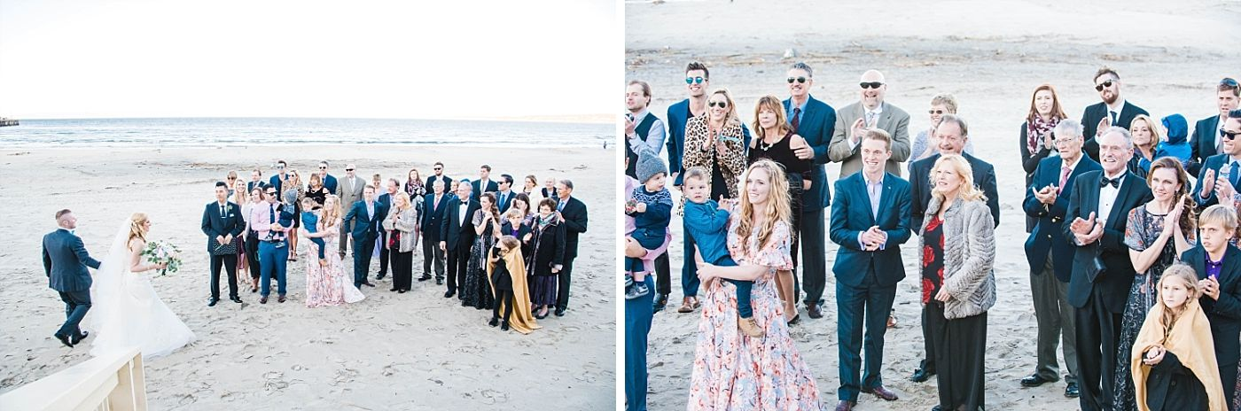 monterey beach house California destination wedding ceremony