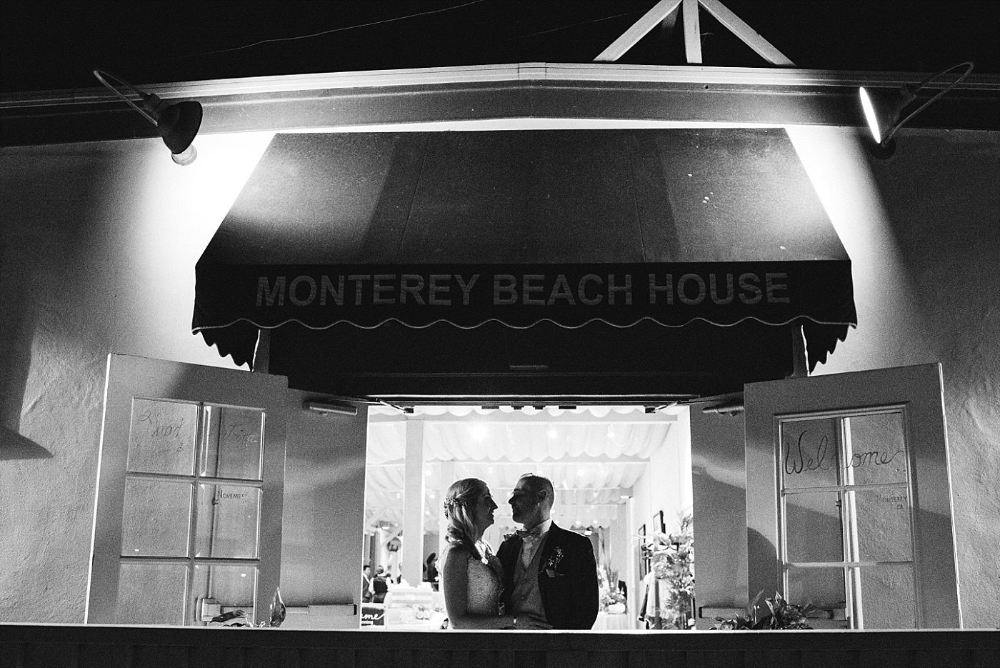 monterey beach house California destination wedding reception