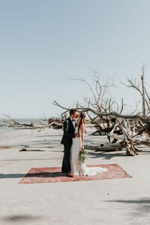 Boho beach wedding Savannah, Georgia