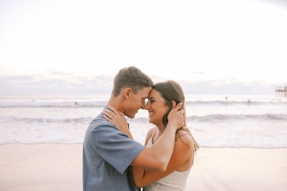 Engagement session in La Jolla, California