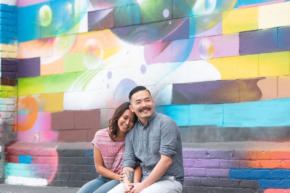 Engagement session in Downtown Los Angeles
