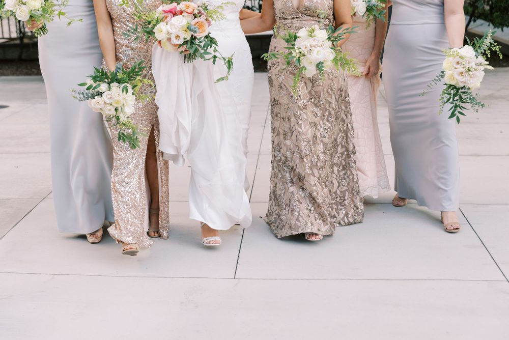 Bridesmaid dress and floral colors