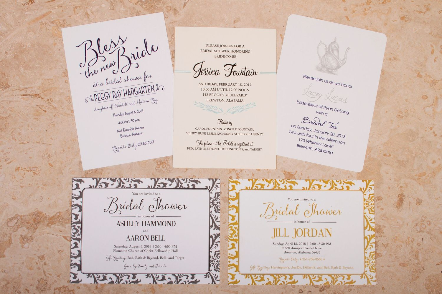 Wedding Party Invitation Samples
