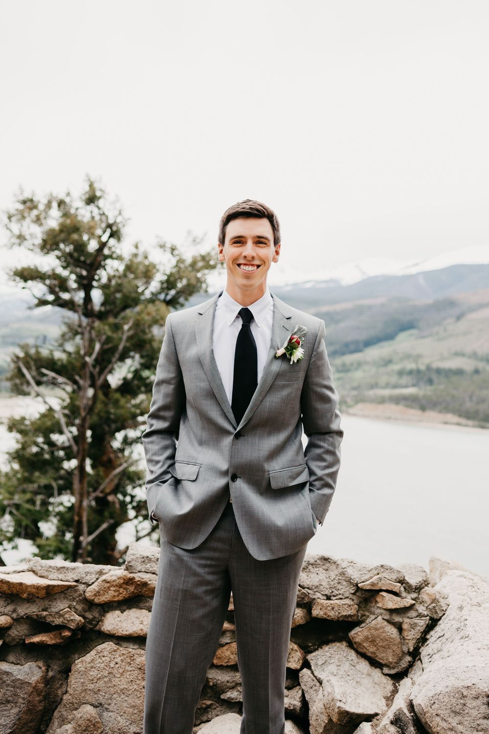 Portrait of Groom Mountain Elopement Inspiration
