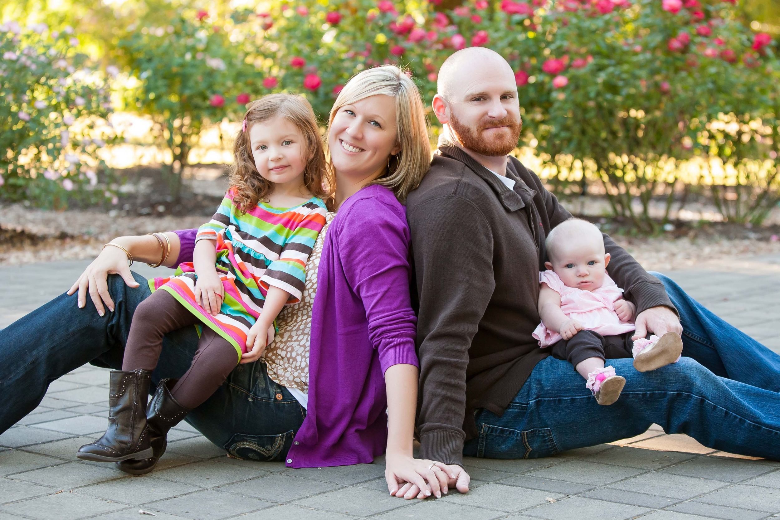 Family Portrait at Avery Park in Corvallis