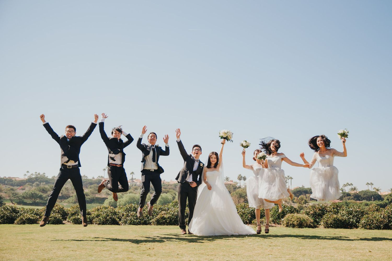Wedding Party Jump