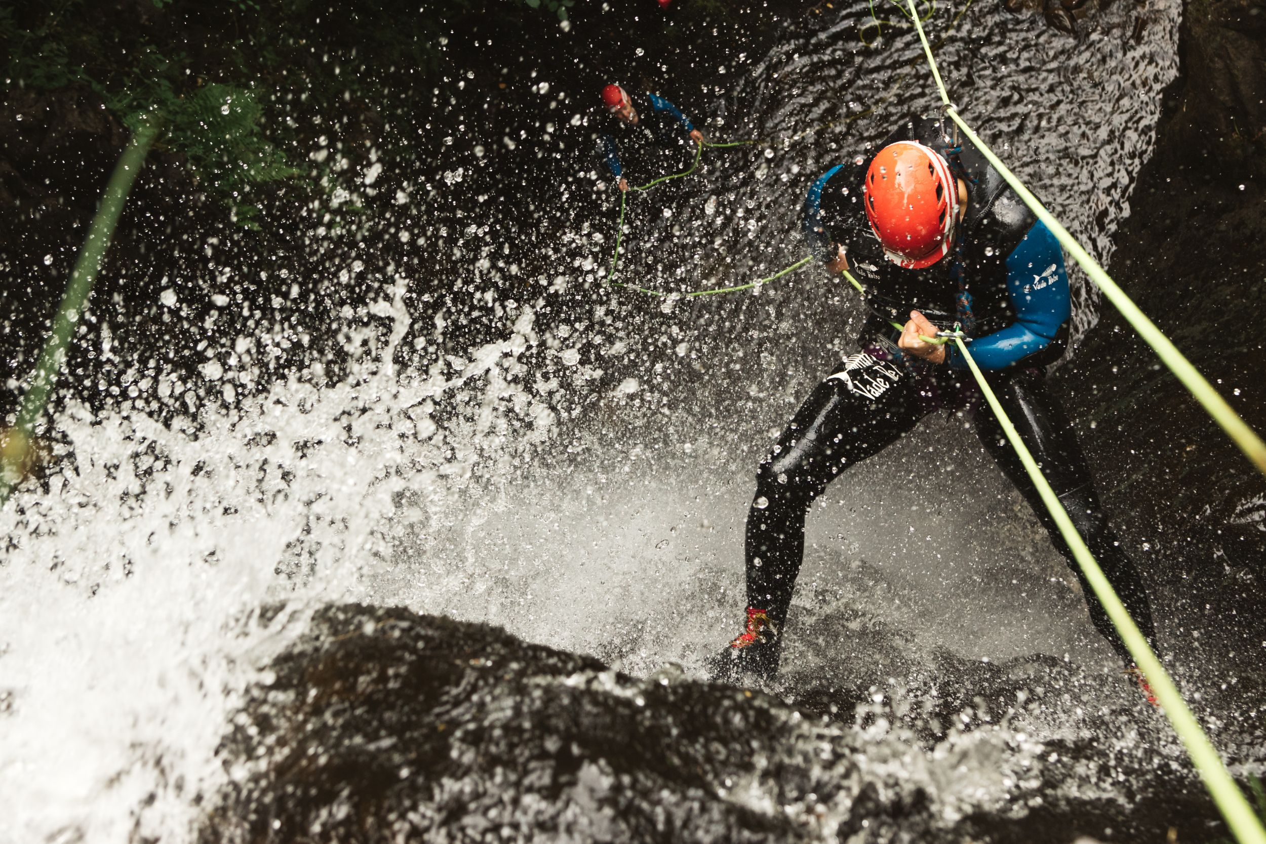 The Adventure Photographers Canyoning Company Photography rappel