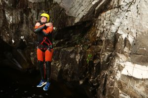The Adventure Photographers Canyoning Bruar Nae Limits slide