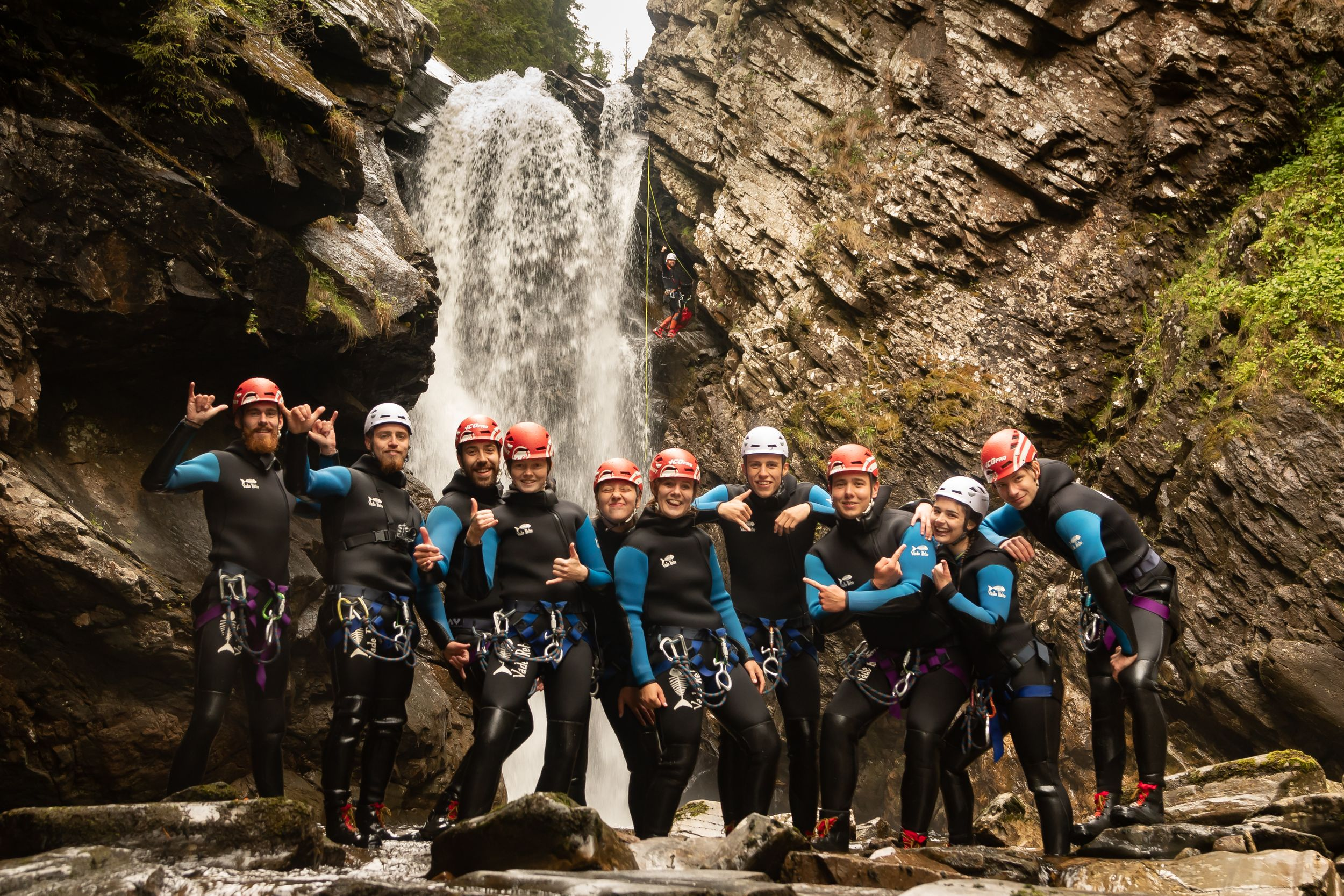 The Adventure Photographers Canyoning Company photography bruar scotland
