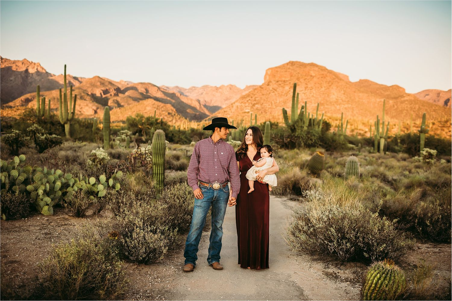 Family photo session in the desert with mountain views-Best Tucson Family Photographer-11