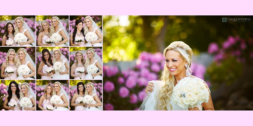 The bridesmaids and bride wedding day formal photos at Kirkbrae Country Club in Lincoln Rhode Island