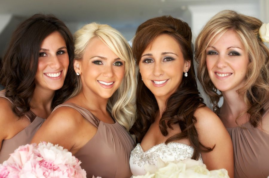 Beautiful formal of the bride and bridesmaids at a belle mer wedding in newport rhode island