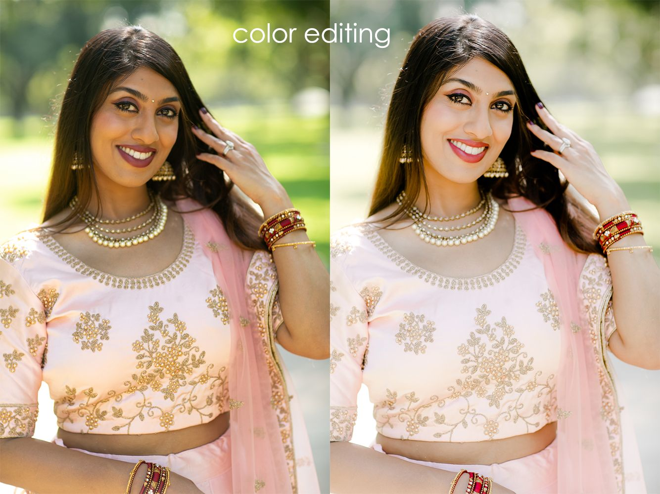 color editing for wedding photographers
