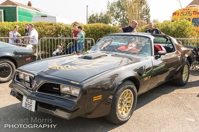 smokey and the bandit black trans am at derian house charity event