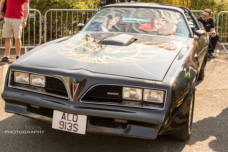 derian house charity event with the black pontiac from smokey and the bandit
