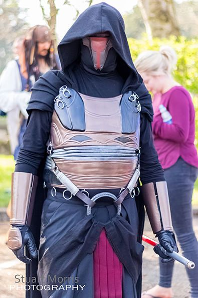 cosplayer dressed as darth revan from star wars